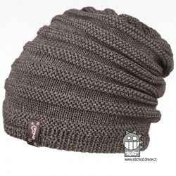 Merino pletená čepice Harmony - vzor 06 - šedá tmavá