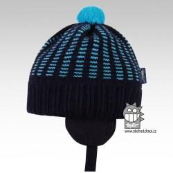 Pletená čepice Mikeš - vzor 06