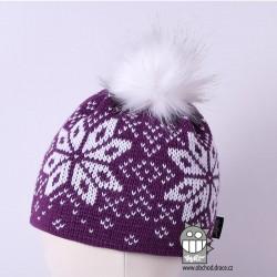 Čepice pletená norsk - vzor 12