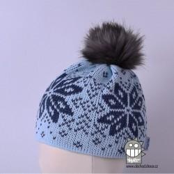 Čepice pletená norsk - vzor 14
