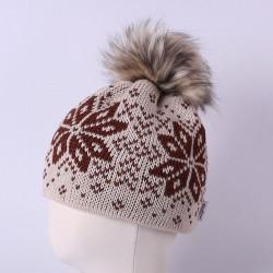 Čepice pletená norsk - vzor 15