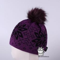 Čepice pletená norsk - vzor 24