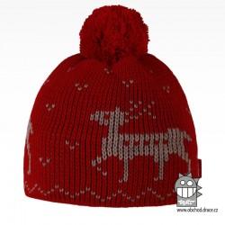 Čepice pletená norsk - vzor 41