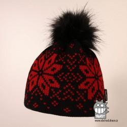 Čepice pletená norsk - vzor 43