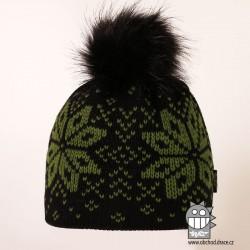 Čepice pletená norsk - vzor 49