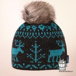 Čepice pletená norsk - vzor 50