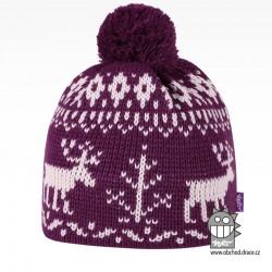 Čepice pletená norsk - vzor 55