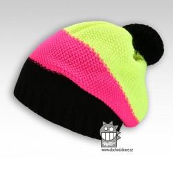 Čepice pletená spadlá - vzor 01