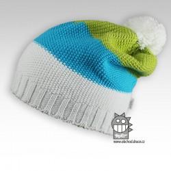 Čepice pletená spadlá - vzor 05