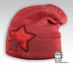Čepice pletená Star - vzor 01