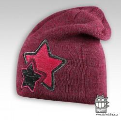 Čepice pletená Star - vzor 02