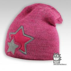 Čepice pletená Star - vzor 04