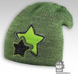 Čepice pletená Star - vzor 05