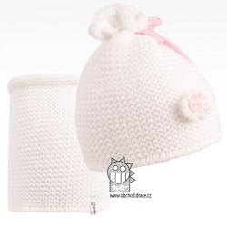 Set pletená čepice a nákrčník Zvonilka - vzor 01