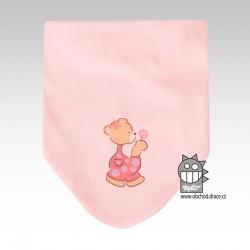 Nákrčník kojenecký bavlna - vzor 05
