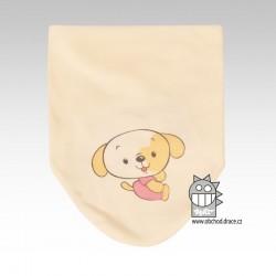 Nákrčník kojenecký bavlna - vzor 08