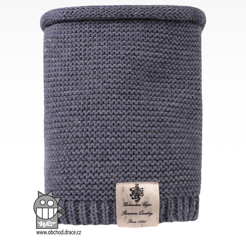 Levně Nákrčník pletený Colors - vzor 19 - jeans modrá