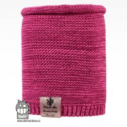 Nákrčník pletený Colors - vzor 25 - růžový melír NEON