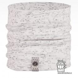 Nákrčník Alan - vzor 02 - bílá / melír