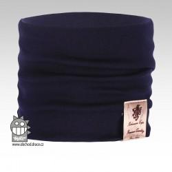 Nákrčník Pastels - vzor 11 - tmavě modrá