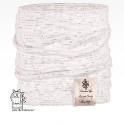 Nákrčník Pastels - vzor 25 - bílá / melír