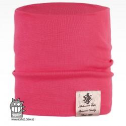 Nákrčník Pastels - vzor 35 - růžová neon