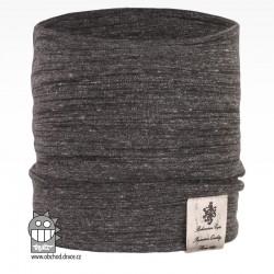 Nákrčník Pastels - vzor 39 - šedá melír