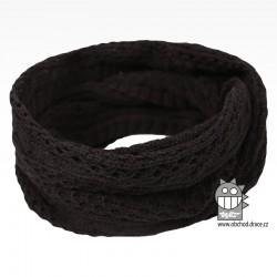 nákrčník chomout pletený - vzor 33 černá