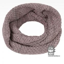 nákrčník chomout pletený 120cm- vzor 35 fialovo šedá