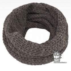 nákrčník chomout pletený 120cm- vzor 37 šedý melír