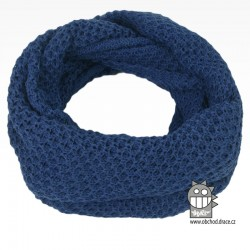 nákrčník chomout pletený 120cm- vzor 42 modro šedá