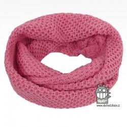 nákrčník chomout pletený 120cm- vzor 43 růžová světlá