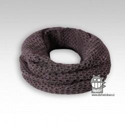 nákrčník chomout pletený - vzor 01 šedohnědá