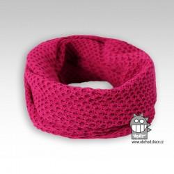 nákrčník chomout pletený - vzor 02 malinová