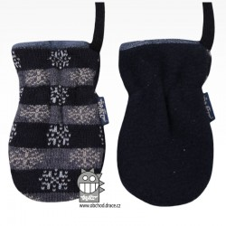 Rukavice kojenecké pletené - vzor 04
