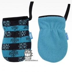 Rukavice kojenecké pletené - vzor 05