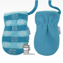 Rukavice kojenecké pletené - vzor 06