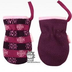 Rukavice kojenecké pletené - vzor 07