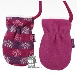 Rukavice kojenecké pletené - vzor 08