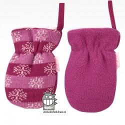 Rukavice kojenecké pletené - vzor 09