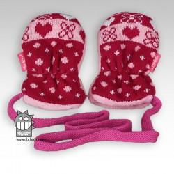 Rukavice kojenecké pletené - vzor 01