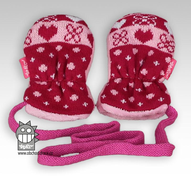 Levně Rukavice kojenecké pletené - vzor 01