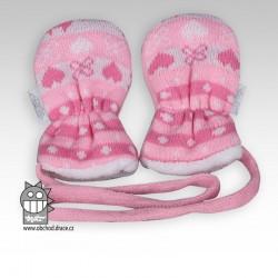 Rukavice kojenecké pletené - vzor 02