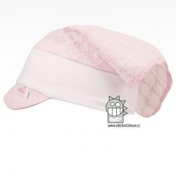 Letní kojenecký šátek Anežka, 0 - 1 rok - vzor 02 růžová