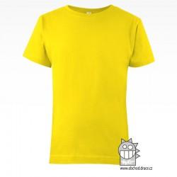 Triko dětské bavlna - vzor 10 - žlutá