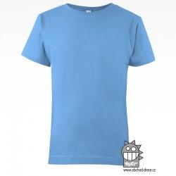 Triko dětské bavlna - vzor 07 - světle modrá